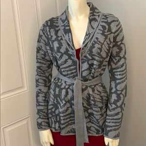 212 Collection cardigan animal print sweater Small